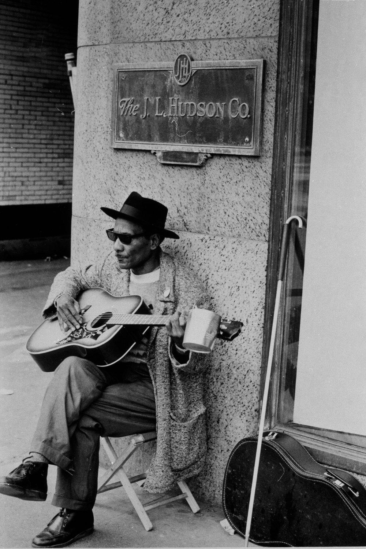 Blues Guitar Outside of Hudson's Store
