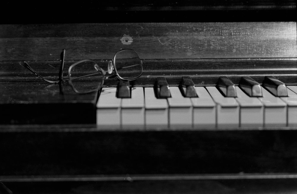 Piano and Glasses