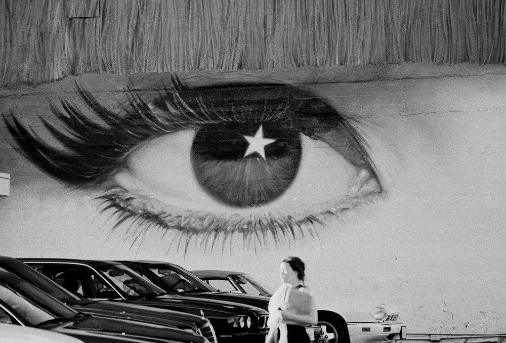 Large Eye Parking Lot- Sunset Boulevard
