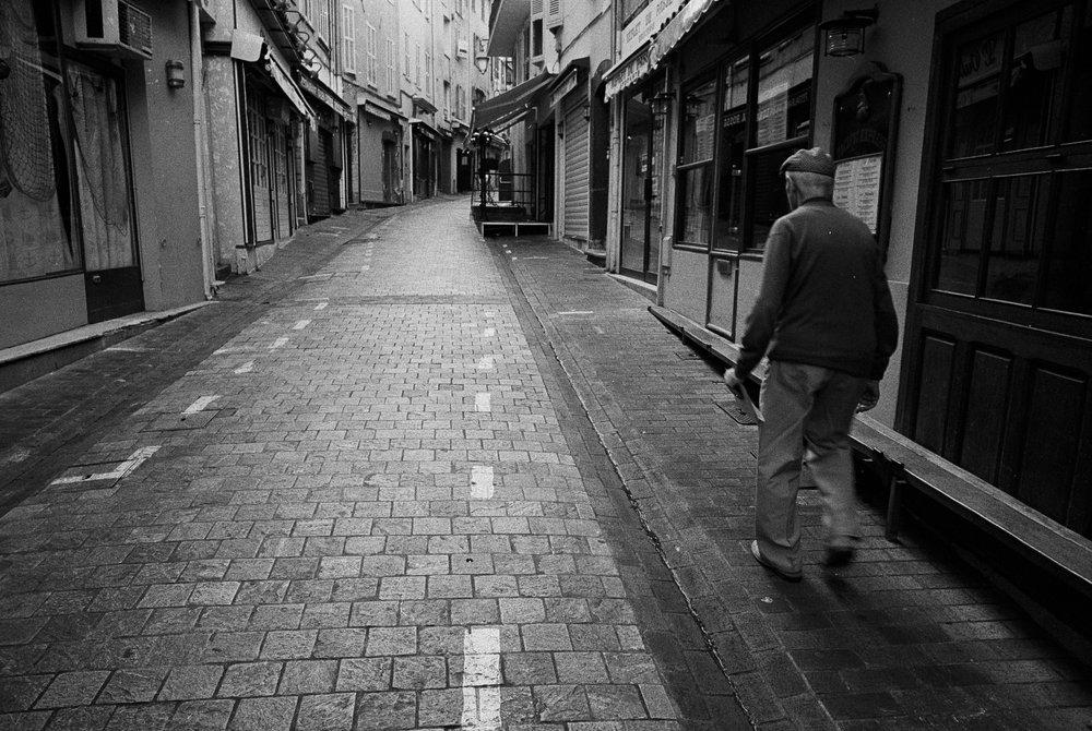Man Walking in Cannes