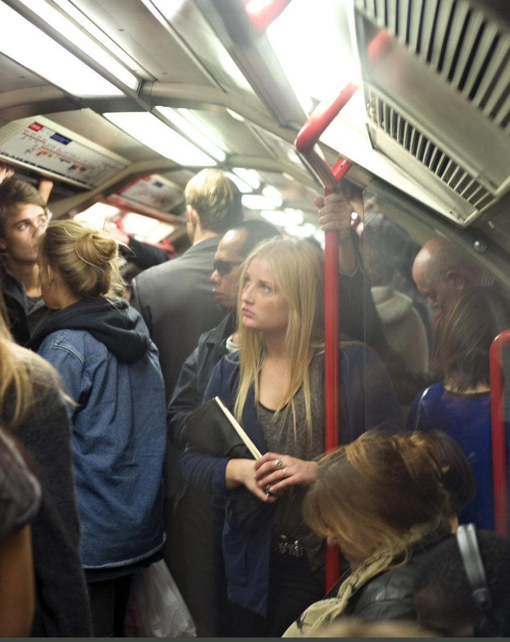 Girl in London Tube