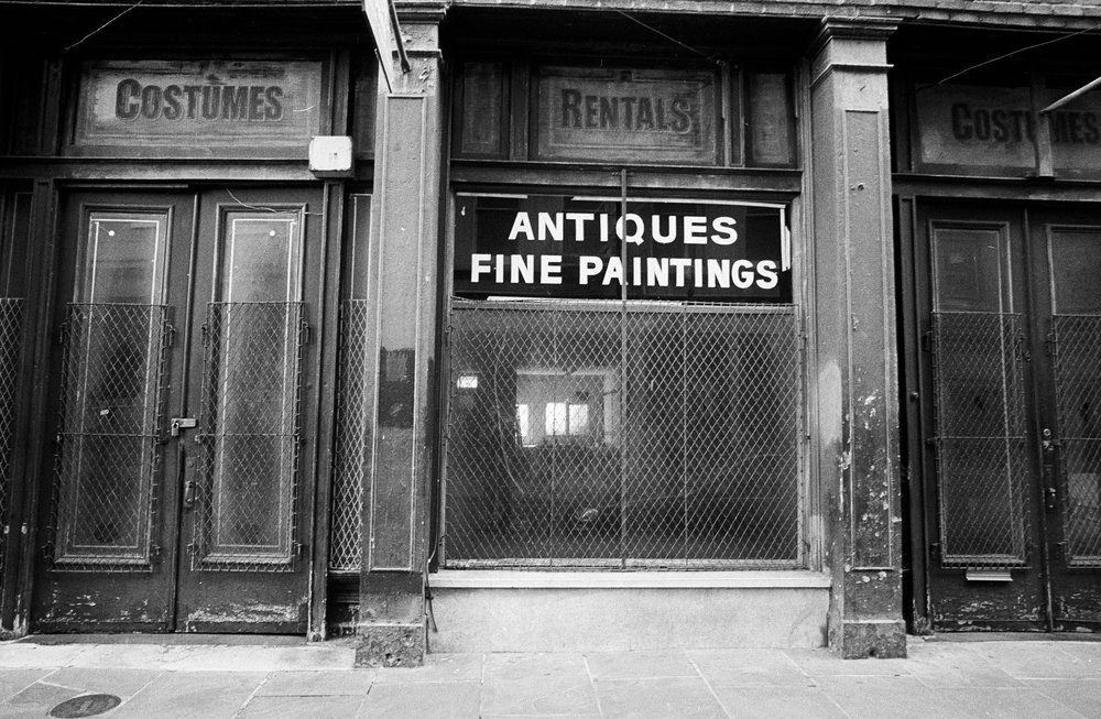 Vacant Antique Store in Soho