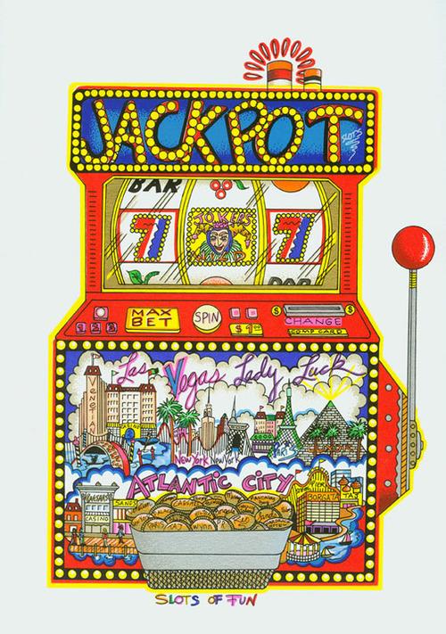 "Slots of Fun, 7"" x 10.5"""