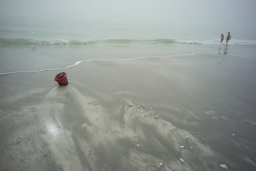 Red Pail on Beach