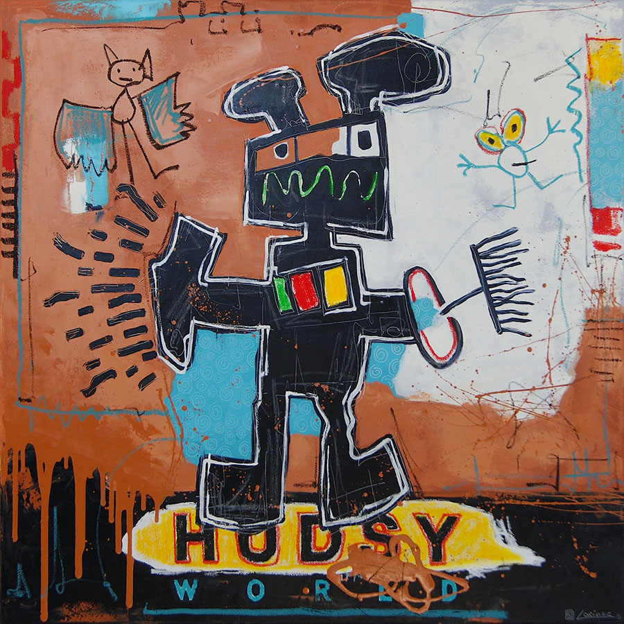 "Cleaning Robot #2 40"" x 40"""