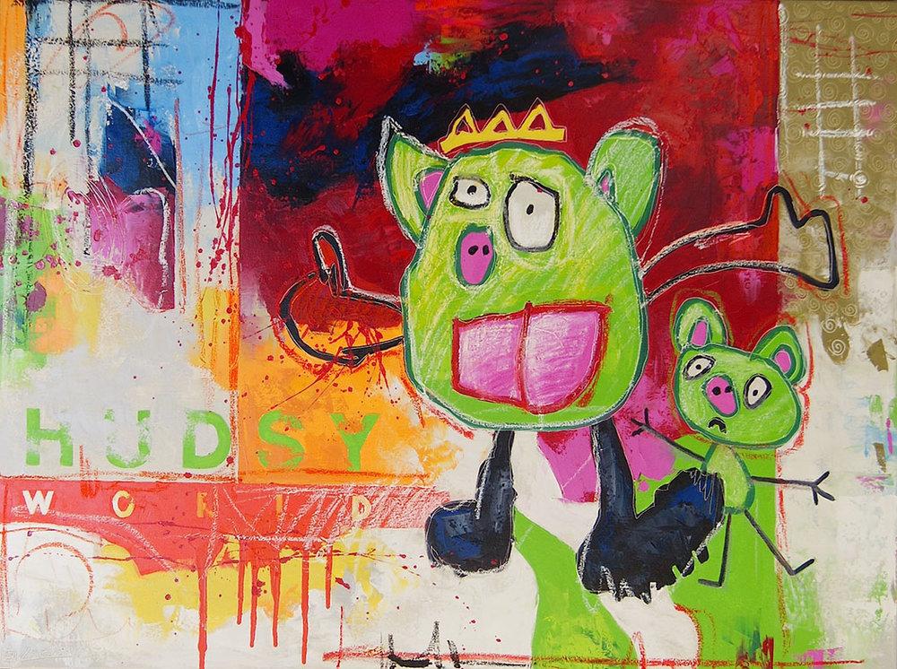 """King Pig, 30"""" x 40"""""""