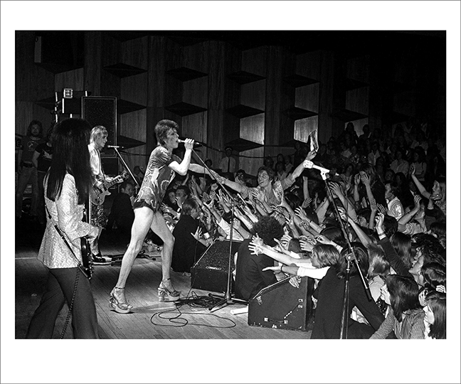 Bowie Reaching Into Audience Guildford UK 1973