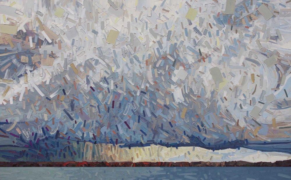 "Big Storm Lake 8 - 54""x85"""