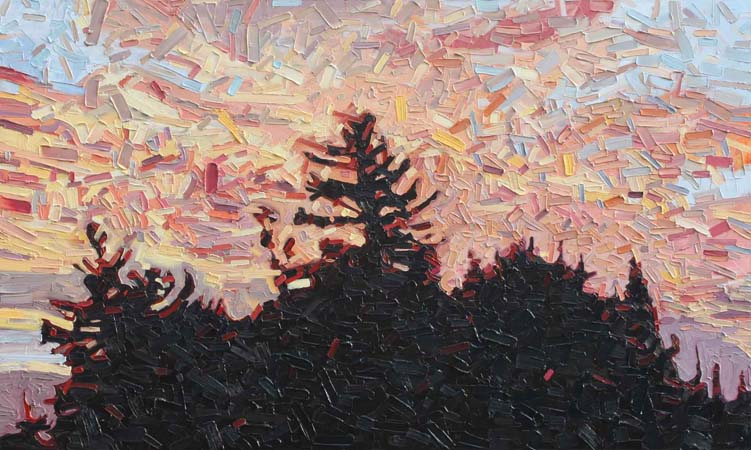 "Sunset Tree Tops 8 - 36""x60"""