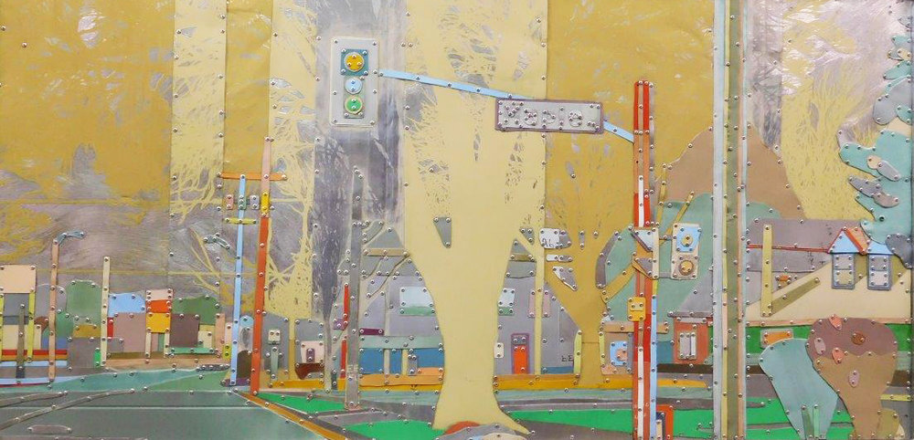"Yellow Crossing 34"" x 64"""