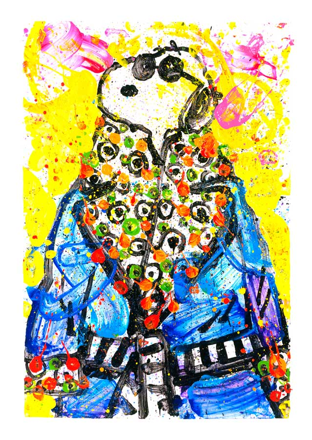 "Wearing Jim Dine – Snoopy - 32"" x 45"""