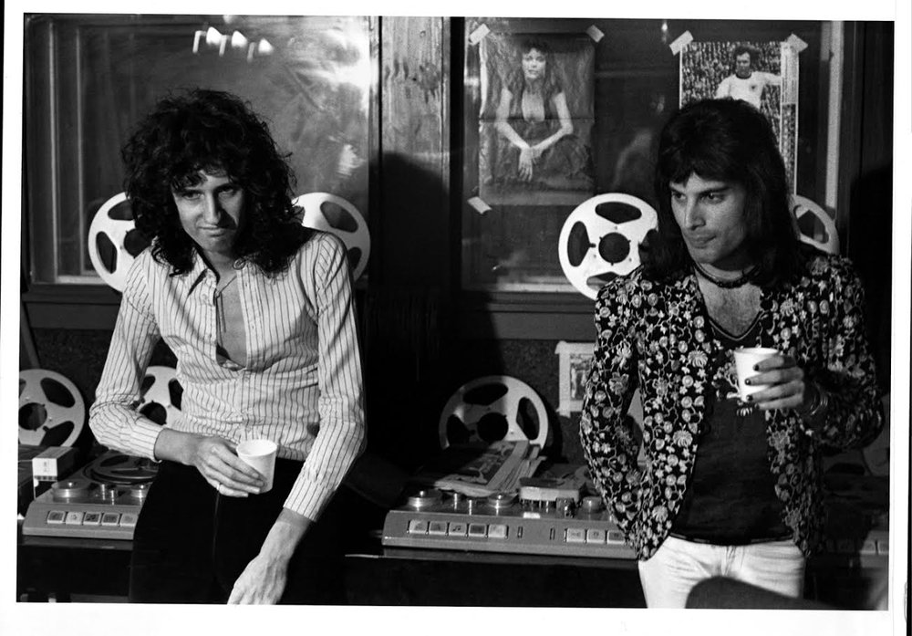 Brian May and Freddie Mercury Recording, London, 1975