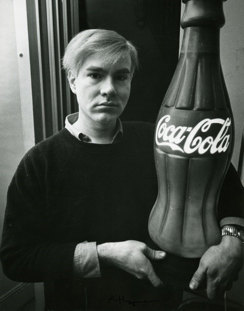 Andy Warhol with Coke Bottle, 1964