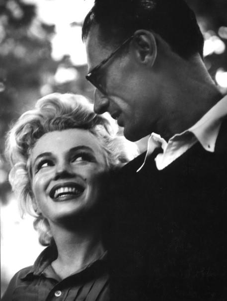 Marilyn Monroe with Arthur Miller, 1956