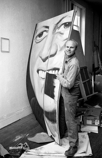 James Rosenquist in Studio 2, 1964