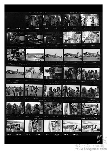 Led Zeppelin Contact Sheet