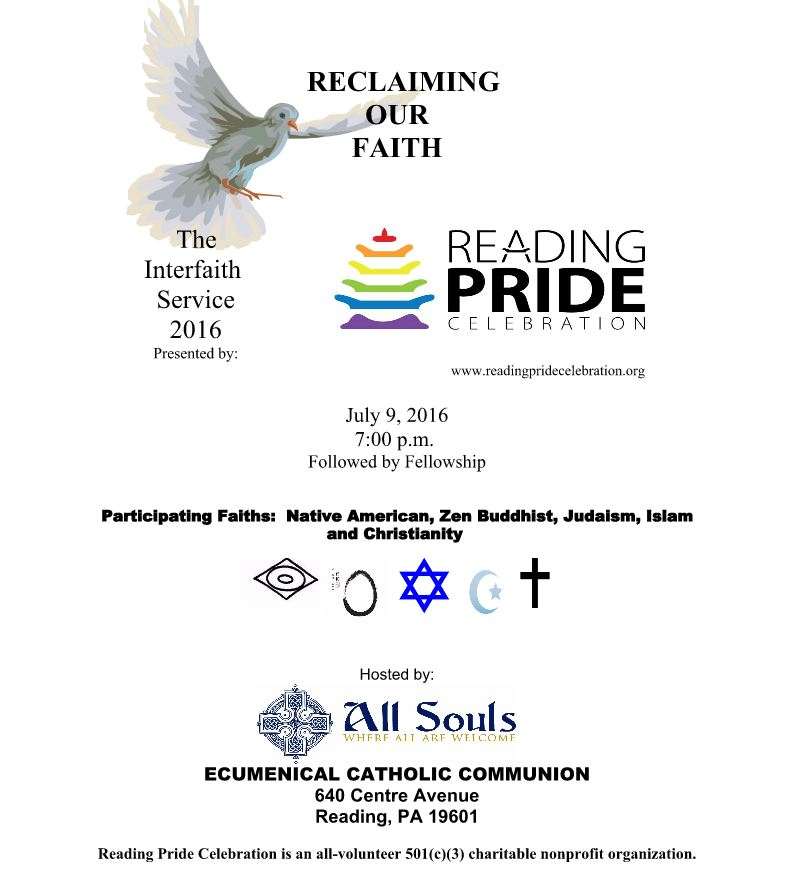 Interfaith Service — Reading Pride Celebration