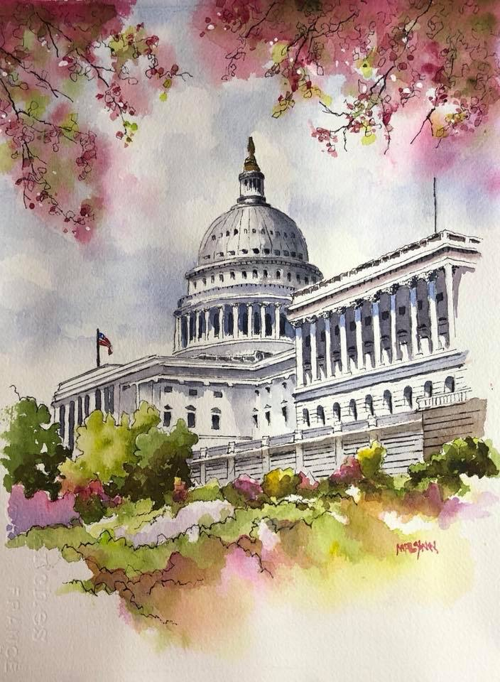 US Capitol  11 x 15 SOLD