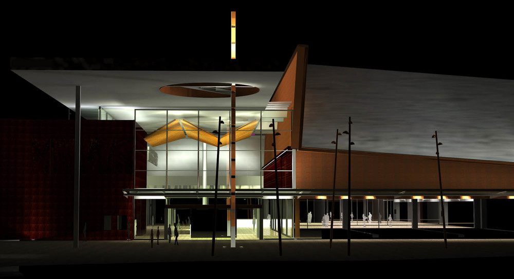 NZ Lighting Design NZ Insight Light Te Awa The Base Shopping Mall Architectur