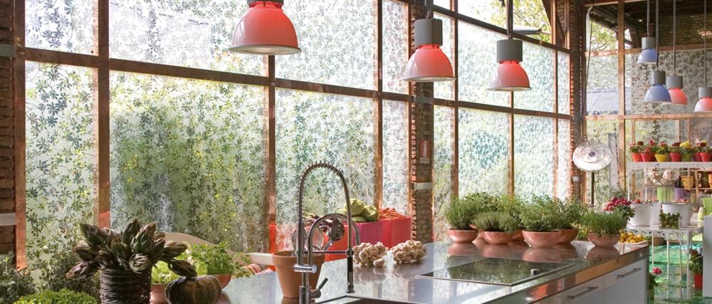 Residential Interior Suspended Pendant Lighting_Industrial interior decor pendants_Castaldi_Sosia_Lighting over kitchen bench