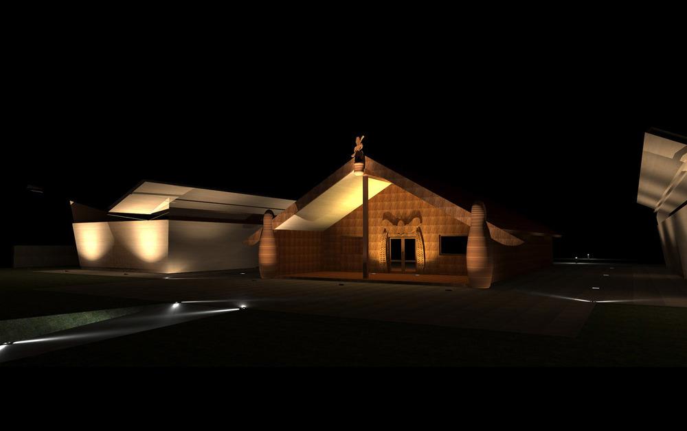 NZ Architectural Lighting Design NZ Insight Light Marae Lighting Design Entry