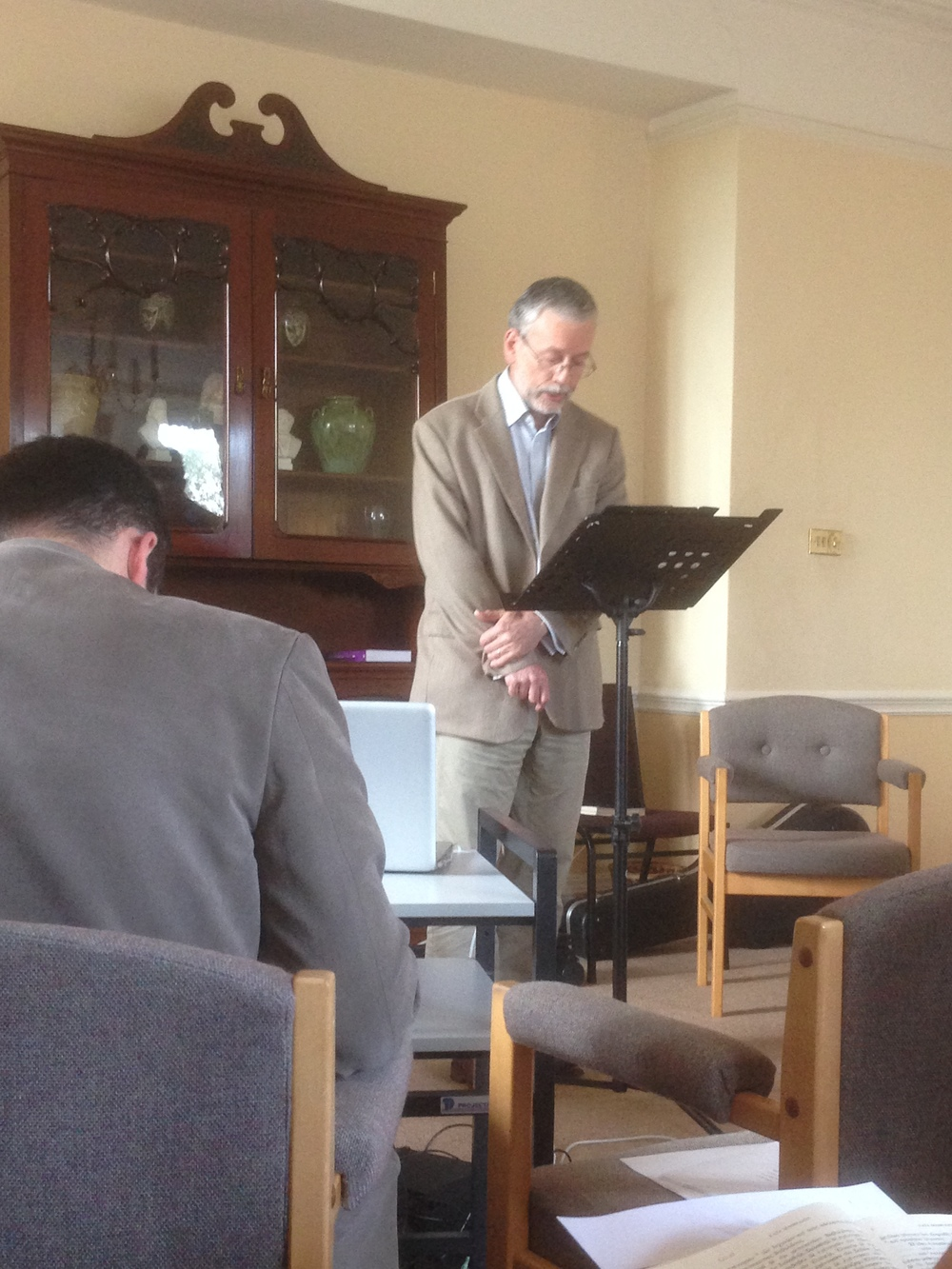 Prof. Watson lecturing on the Gospel of Matthew.
