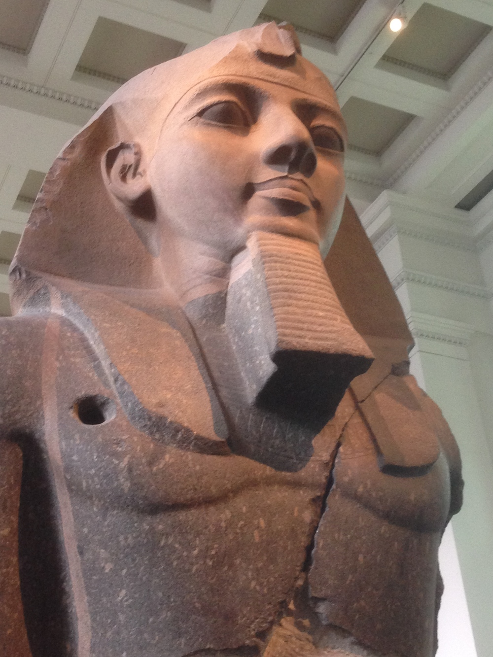 Ramses II, 19th dynasty, abt. 1270 BCE from the Ramesseum, western Thebes