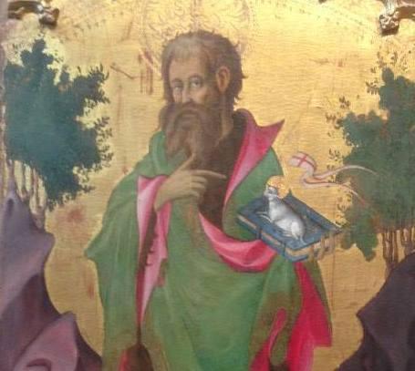 Saint Jean-Baptiste painting in Le Louve