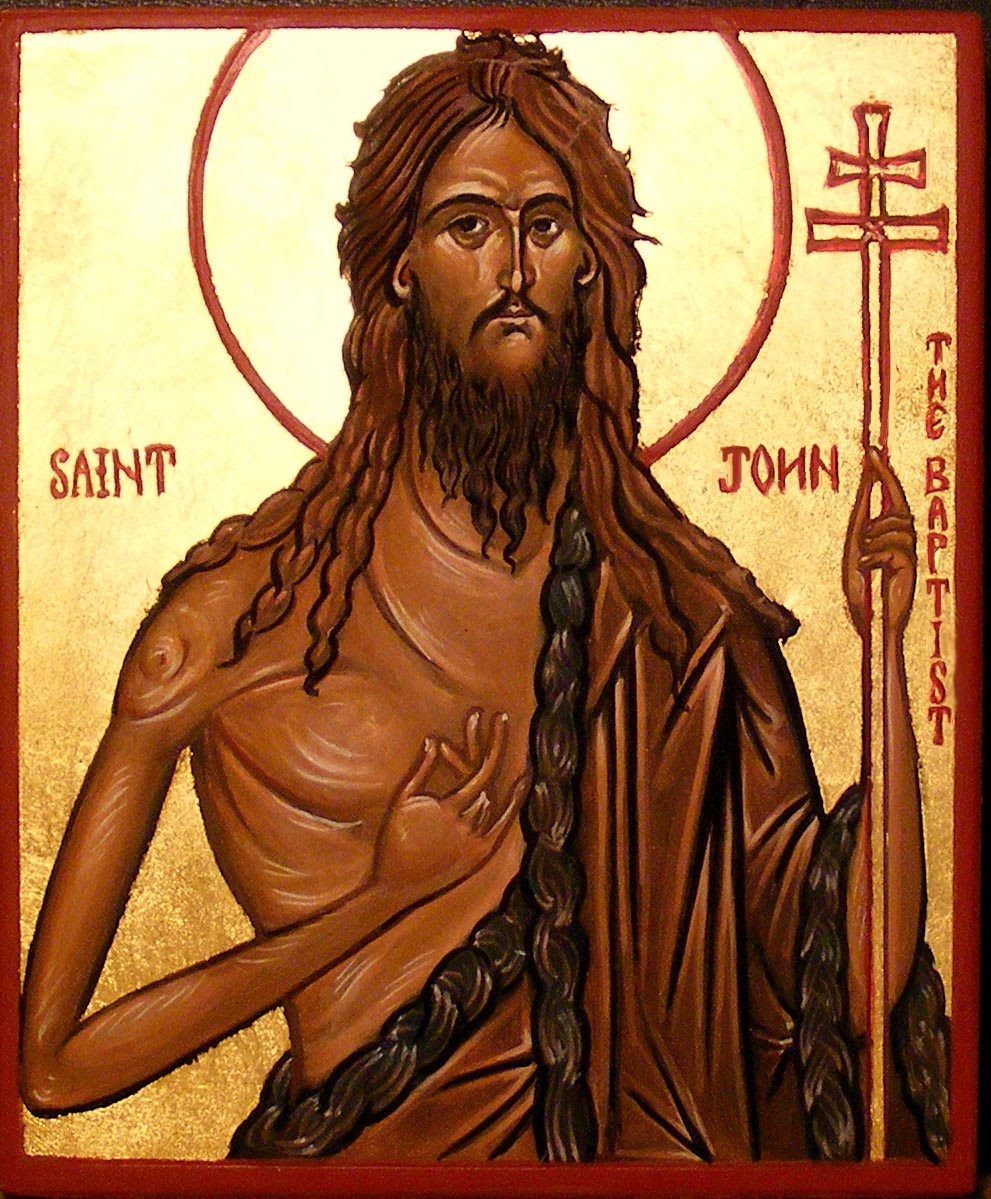 Icon of John the Baptist, artist unknown.