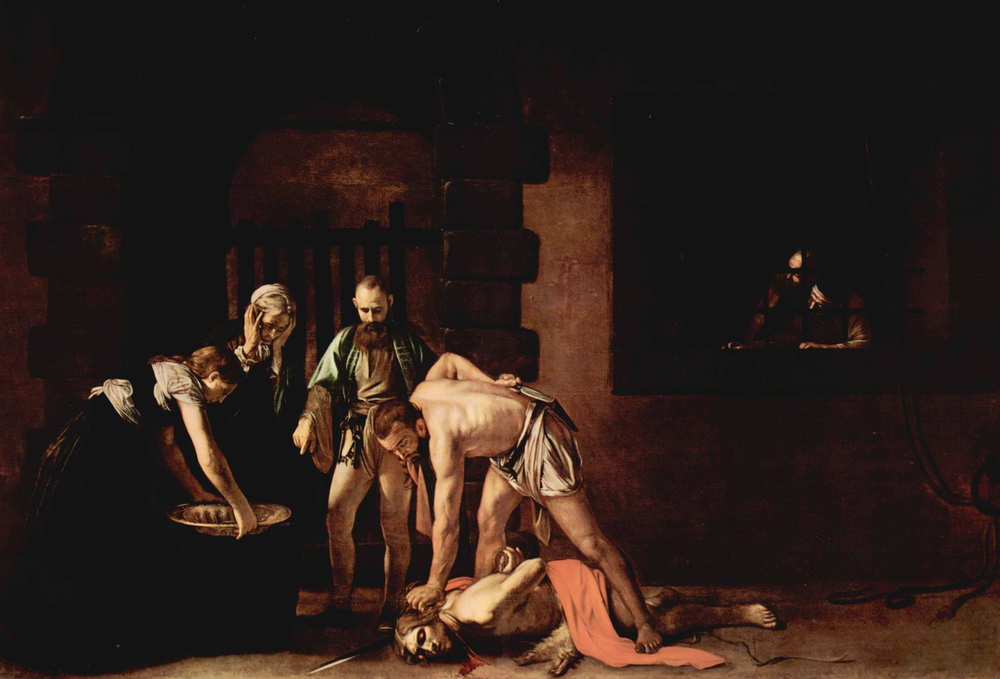 Carvaggio, The Beheading of John the Baptist (Source: WIkipedia Commons)