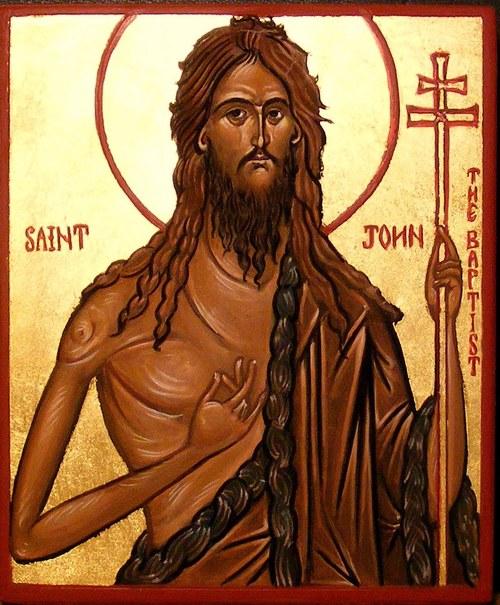 Icon of John the Baptist; artist unknown.