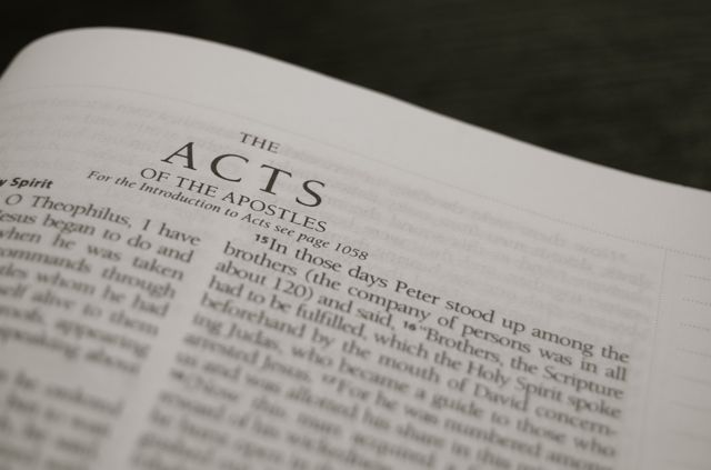 the Book of Acts (Source: danrupple.com)