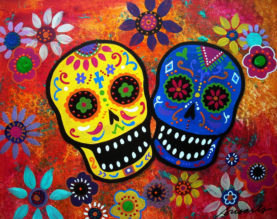 Traditional art for  Día de los Muertos . (Source: swoopevents.com)