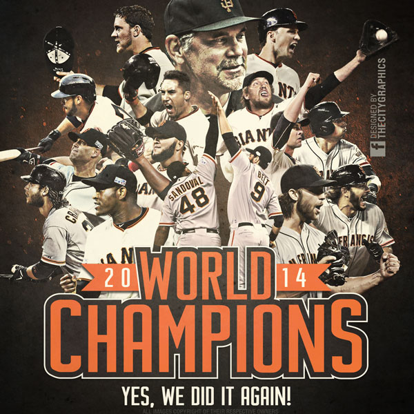 SAN FRANCISCO GIANTS World Champions designed by  The Citi Graphics ., always a great source for Bay Area based sports designs.