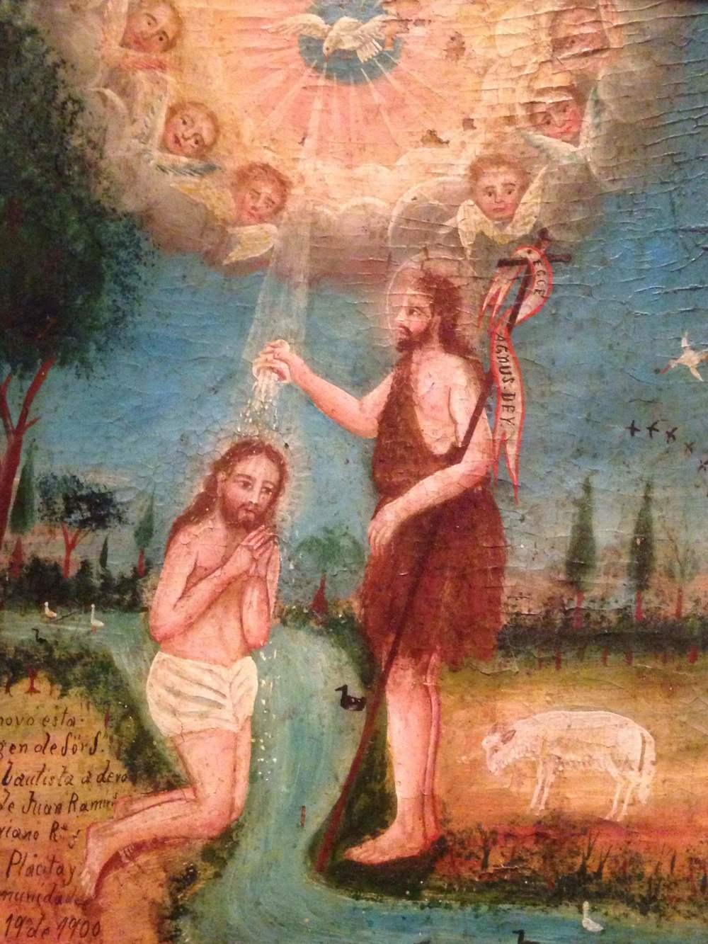 San Juan Bautista y Cristo, artist unknown, c. 1900, Mexico