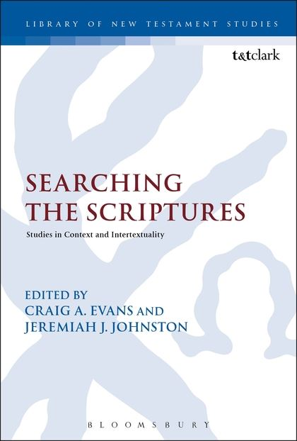 "Most recent publication: ""Crushing Satan: Genesis 2-3 in Romans 16:17-20A"" in   Searching the Scriptures: Studies in Context and Intertextuality  edited by Craig A. Evans and Jeremiah J. Johnston (LNTS; Edinburgh: Bloomsbury T&T Clark, 2015)."