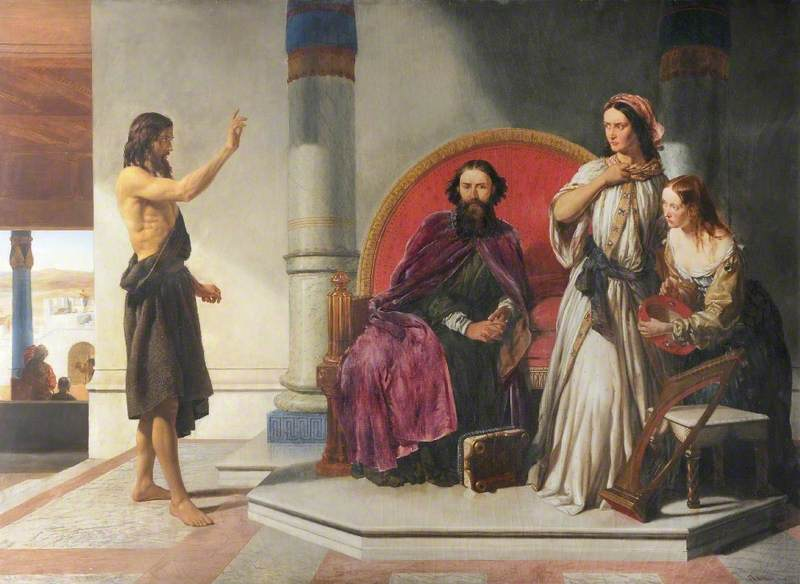John the Baptist antagonizing Antipas and Herodias. Artist unknown.