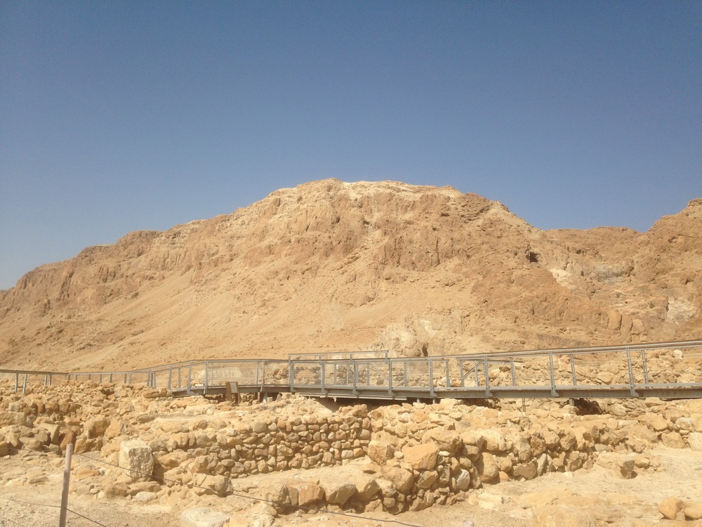 The ruins of the Qumran settlement.