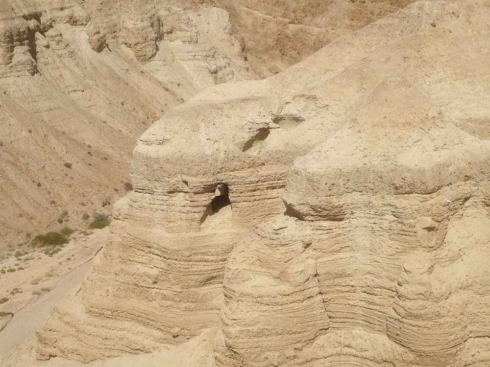 Cave 4 at Qumran where many of the scrolls were recovered.