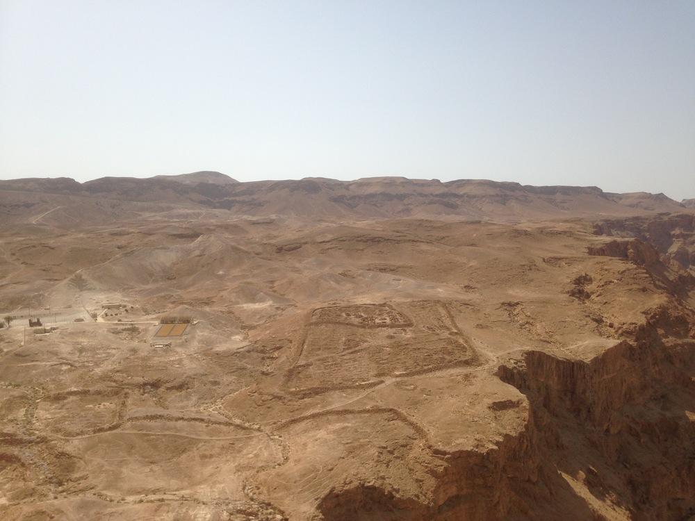 Remains of a Roman encampment below Masada