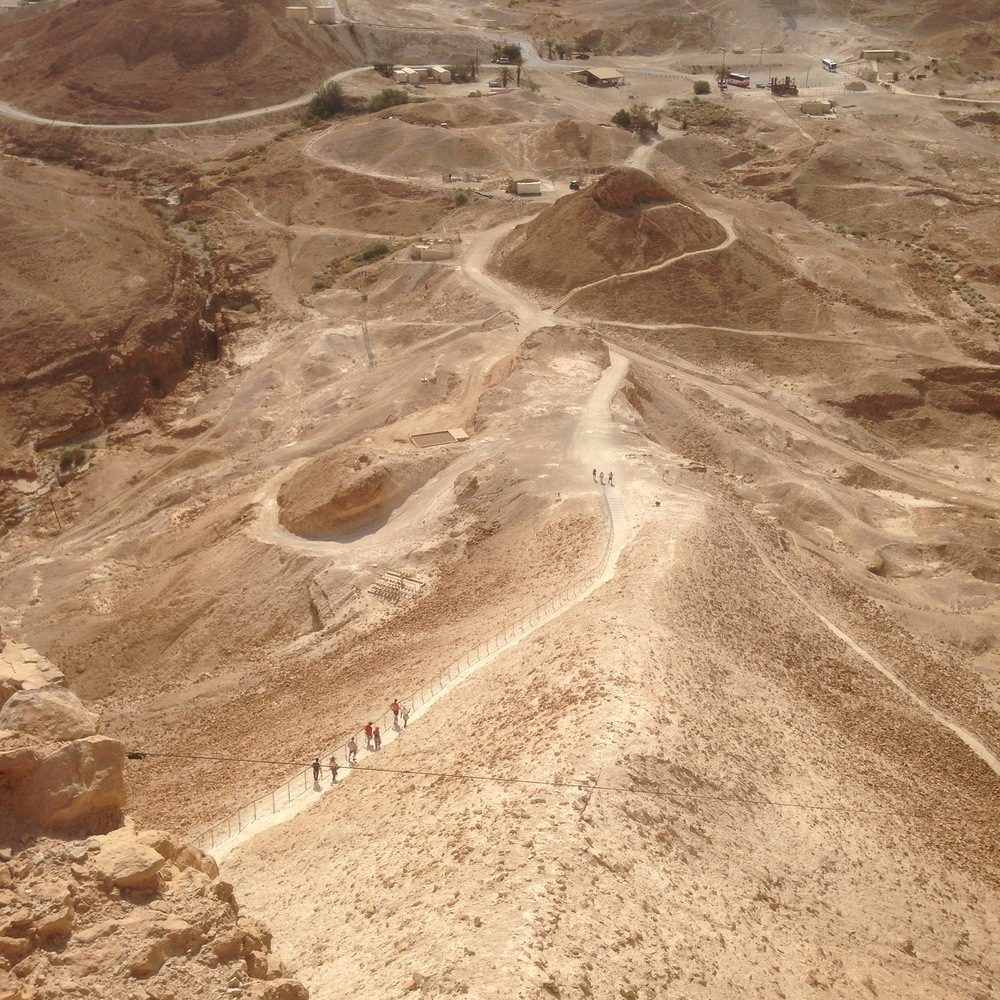 The remains of the ramp constructed by the Romans in order to capture Masada.