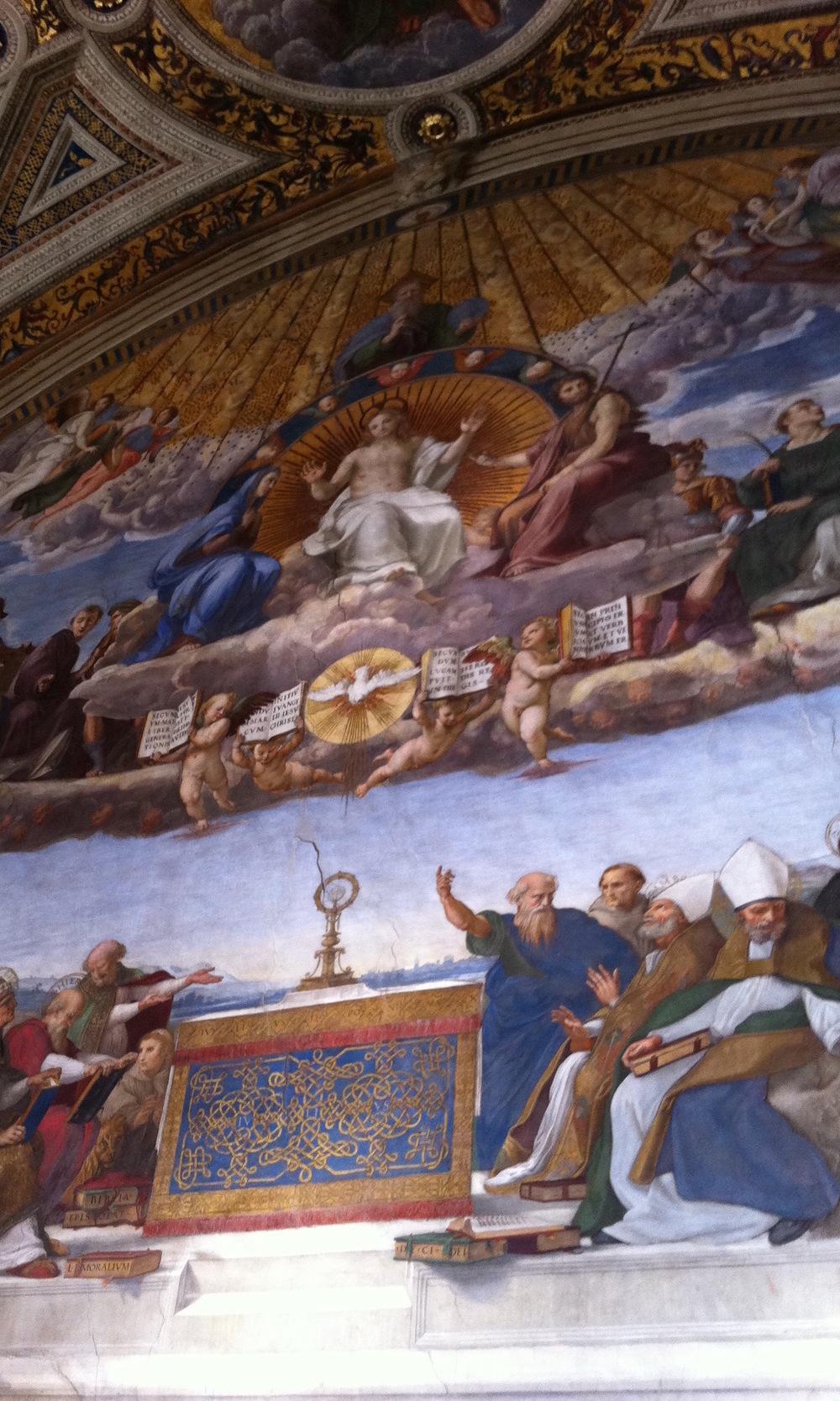 Raphael's La disputa del sacramento