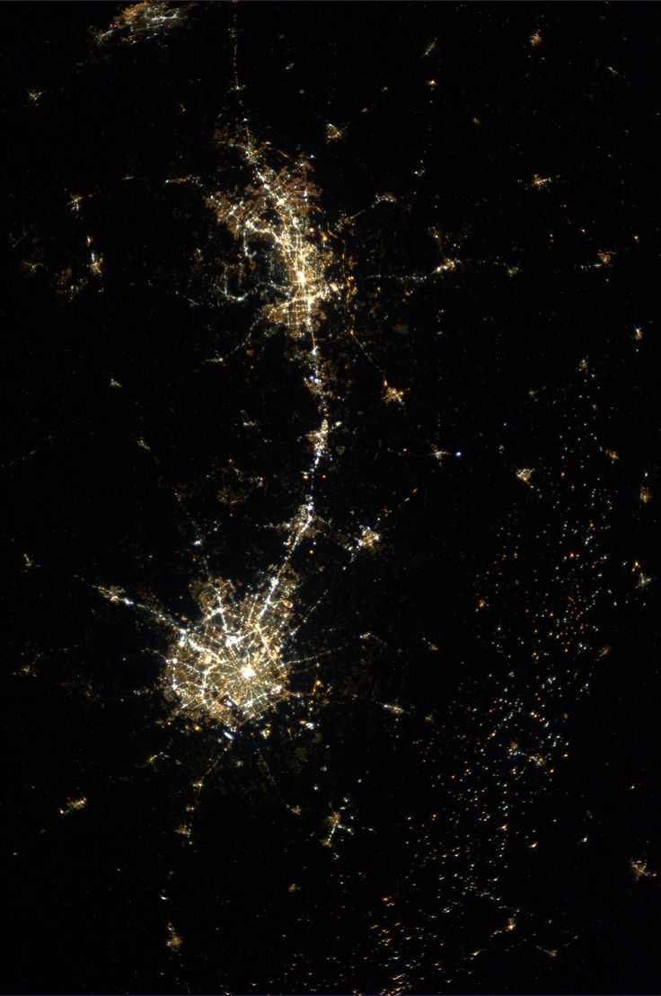 Austin and San Antonio from space (source)