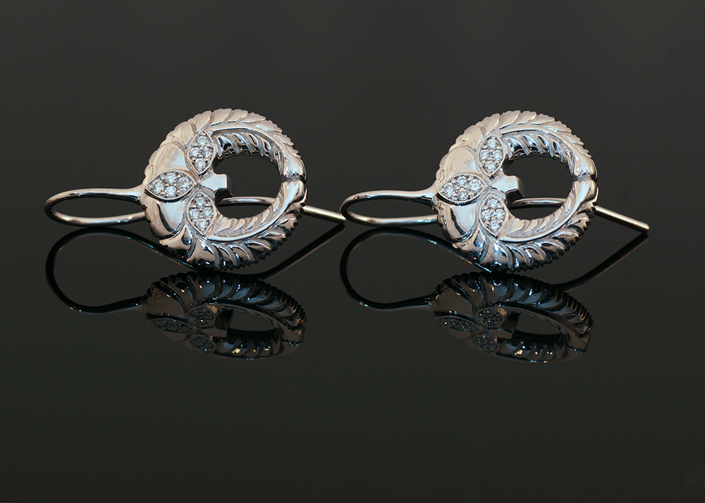 18k Diamond Earrings