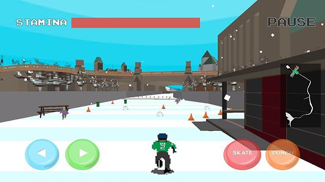 Canal closed for the season? You can still experience it in Bytown Skate & Brawl! #Ottawa #unity #RideauCanal #indiegames #canada #awesome #indie #interesting #ottawadev #programmer #geek #nerd #gaming
