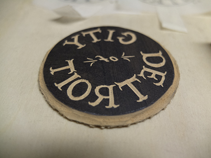 The newest addition just carved and soon to be added to Detroit Wood Type Co.'s new line of stationary.