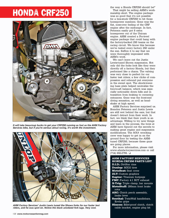 Motocross Action, Feb. 2015, page 138