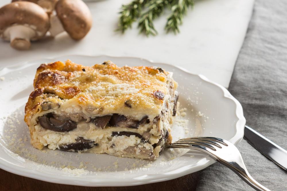 Mixed Mushroom and Béchamel Lasagna