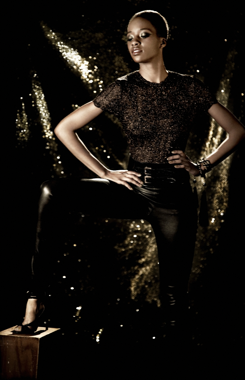 Black and Gold Shoot Photographer- Diana King Hair- Ashley Flaherty MakeUp- Kristine Studden