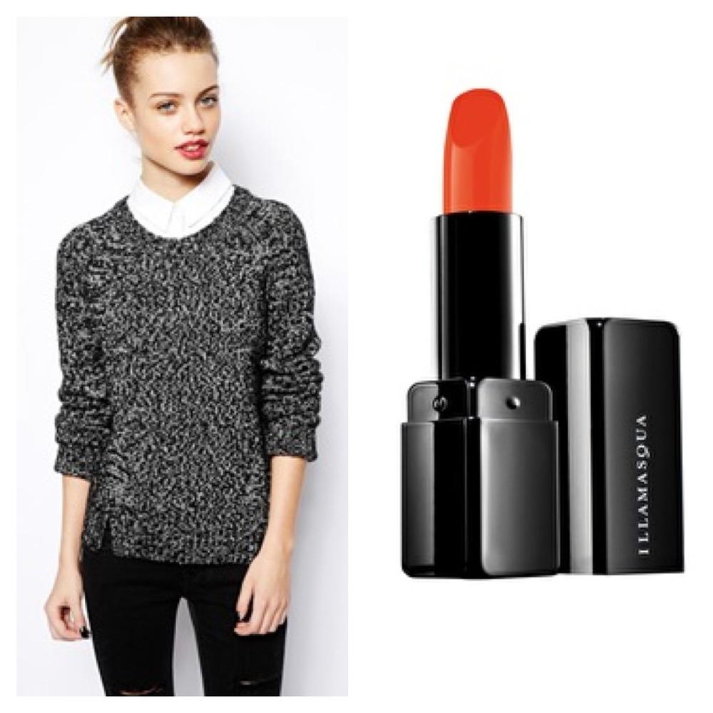 Assos sweater. Illamasqua lipstick.